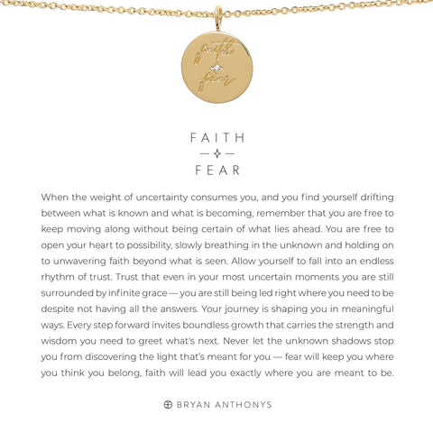 Faith Over Fear 14K Gold