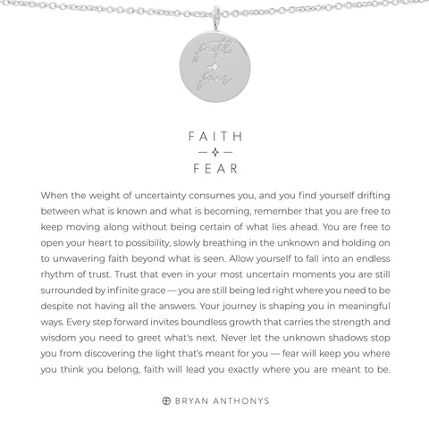 Faith Over Fear Silver