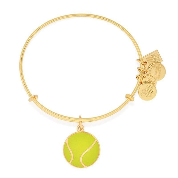 Team Usa Tennis Charm Gold Bangle Bracelet