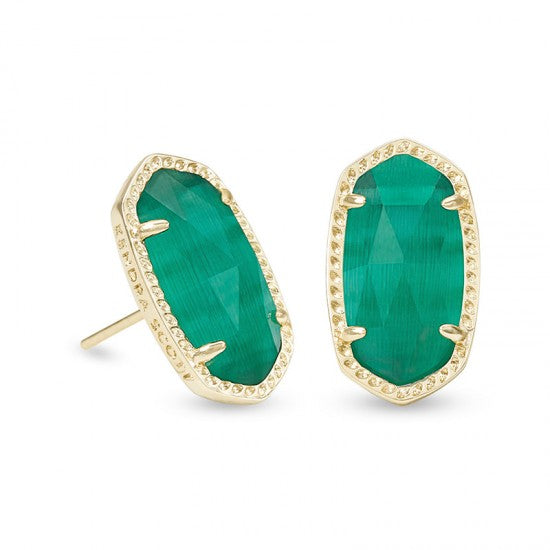 Ellie Gold Emerald Earring