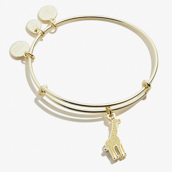 ALEX & ANI GIRAFFE COLOR INFUSION CHARM BANGLE SHINY GOLD