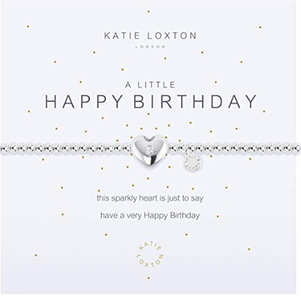 A Little Happy Birthday Silver Bangle Bracelet