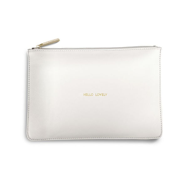Hello Lovely Perfect Pouch Chalky White