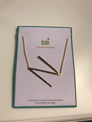 CAI GOLD INITIAL NECKLACE N