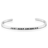 Just Keep Swimming Silver Bracelet