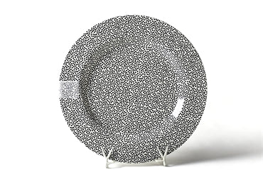 COTON COLORS BLACK SMALL DOT ENTERTAINING ROUND PLATTER