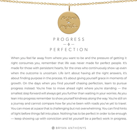 Progress Over Perfection 14K Gold