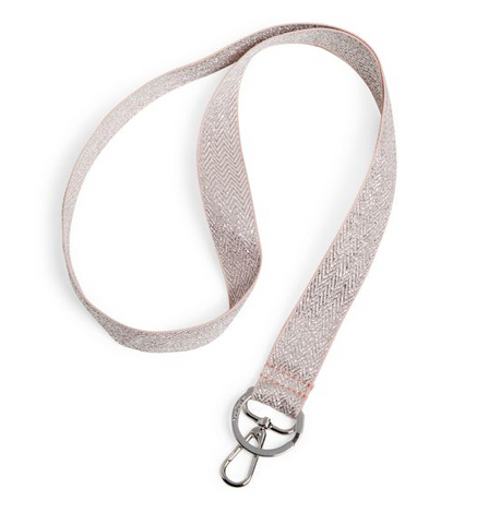 Wide Lanyard Rose Quartz