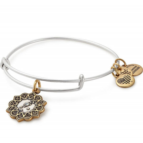 Taurus Two Tone Charm Bangle Bracelet