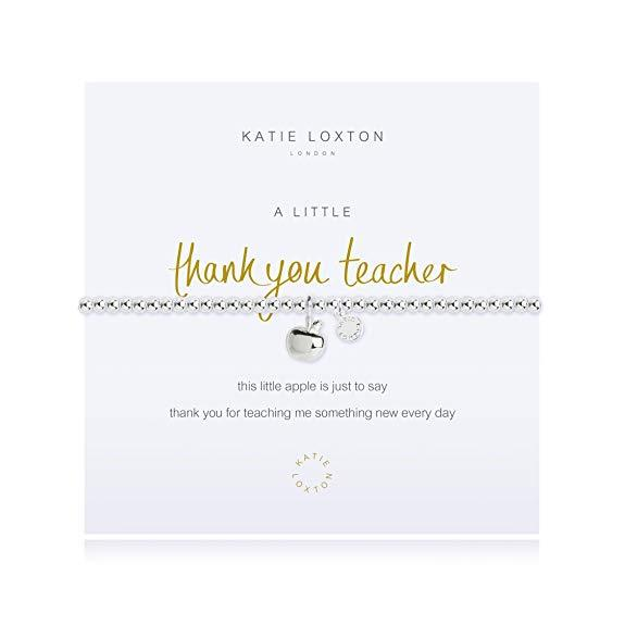 A Little Thank You Teacher Silver Bangle Bracelet