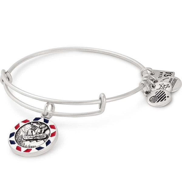 ALEX & ANI TEAM USA SNOWBOARDING CHARM BANGLE BRACELET