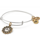 Cancer Two Tone Charm Bangle - Alex And Ani