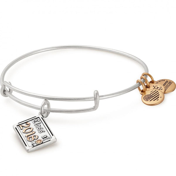 Class Of 2018 Charm Bangle Silver