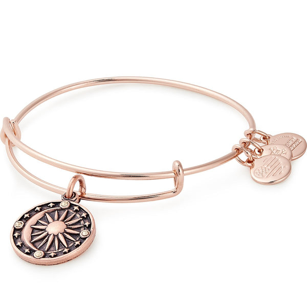 COSMIC BALANCE CHARM BANGLE- ROSE GOLD