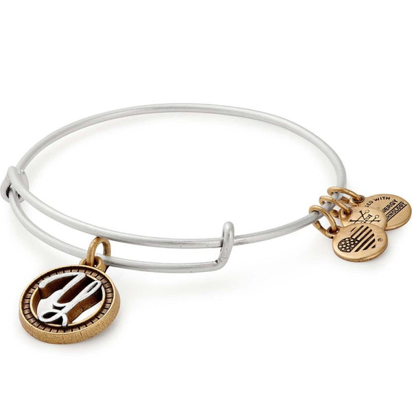ALEX & ANI INITIAL Y TWO TONE