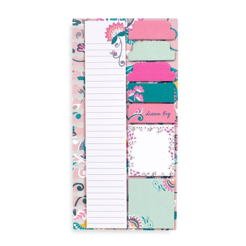 Agenda Sticky Notes Blush Flowers