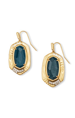 Anna Vintage Gold Teal Apatite