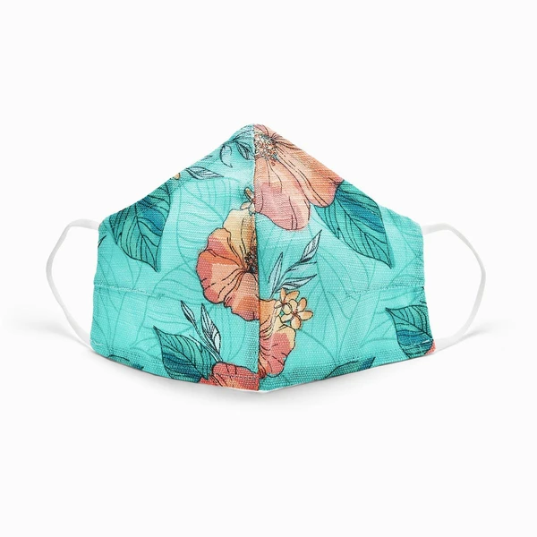 Teal Pura Vida Face Mask