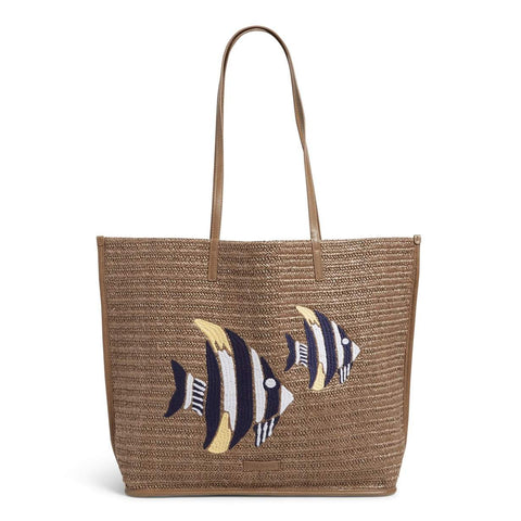 Straw Tote Warm Stone Straw