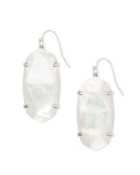 Esme Rhodium Ivory Mother Of Pearl Earring