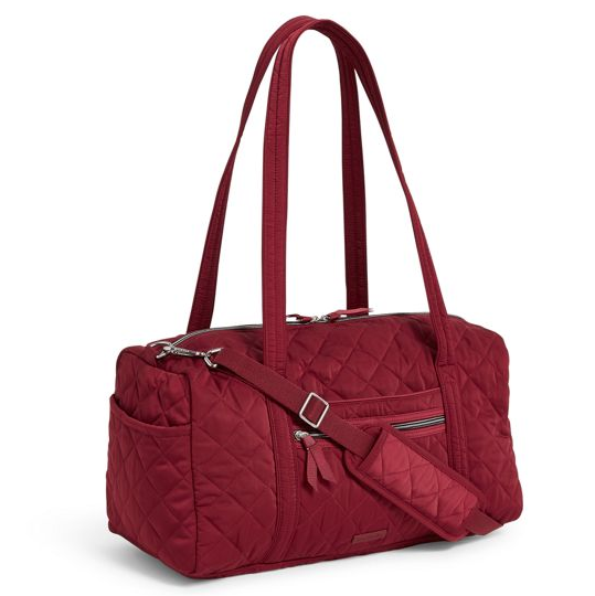 berry red travel bag