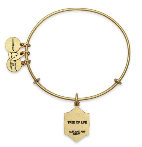 Alex And Ani Tree Of Life Gold Bangle Bracelet