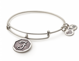 Alex And Ani Silver Initial F Bracelet