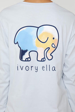 Moonstone Blue Expression Long Sleeve Tee