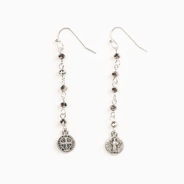 DROP FROM HEAVEN EARRINGS SILVER