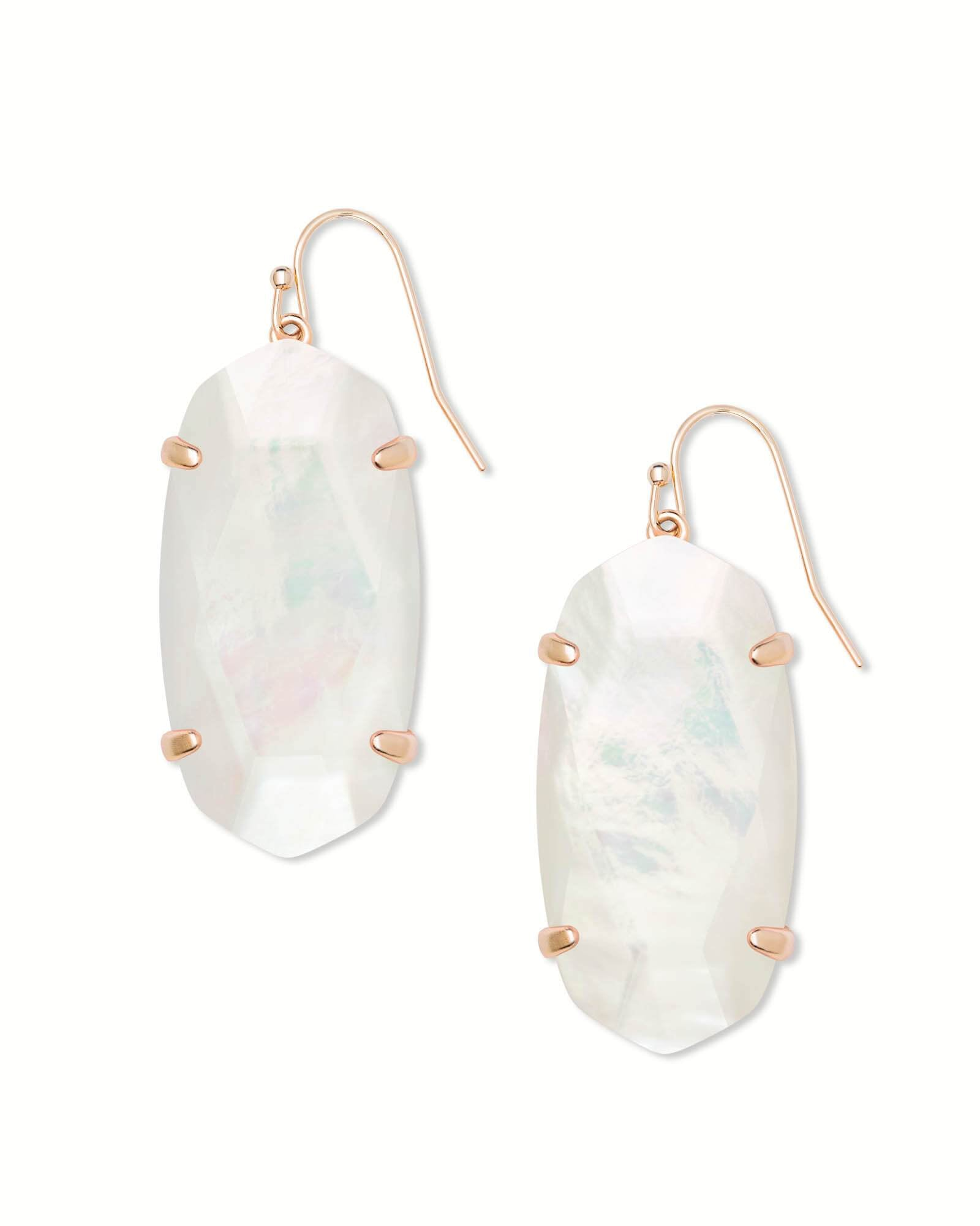 Esme Rose Gold Ivory Mother Of Pearl Earring