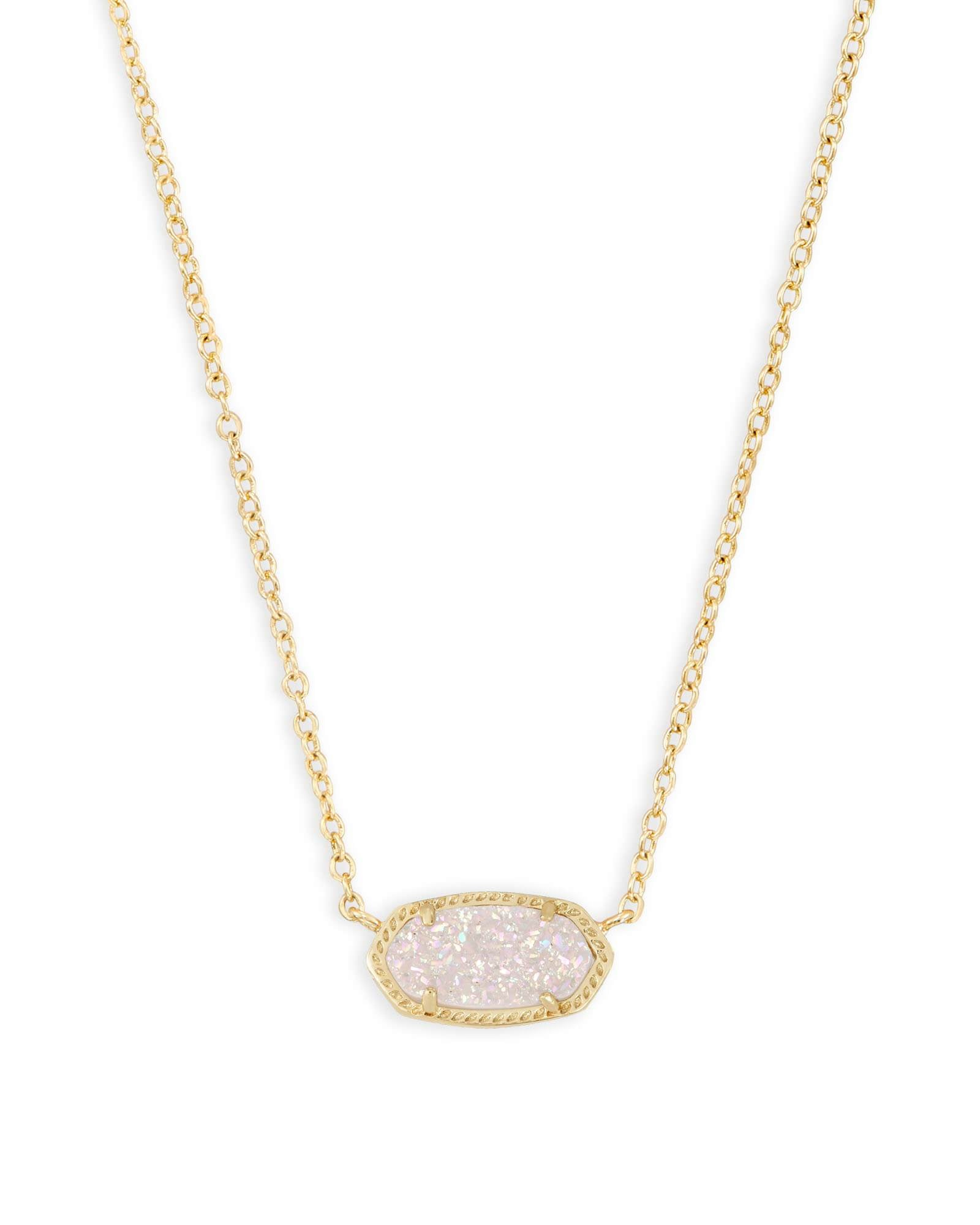 Elisa Gold Iridescent Drusy Necklace