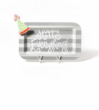 happy everything stone stripe platter