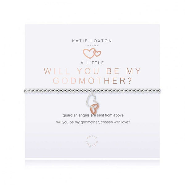 A Little Will You Be My Godmother  Silver  Bracelet