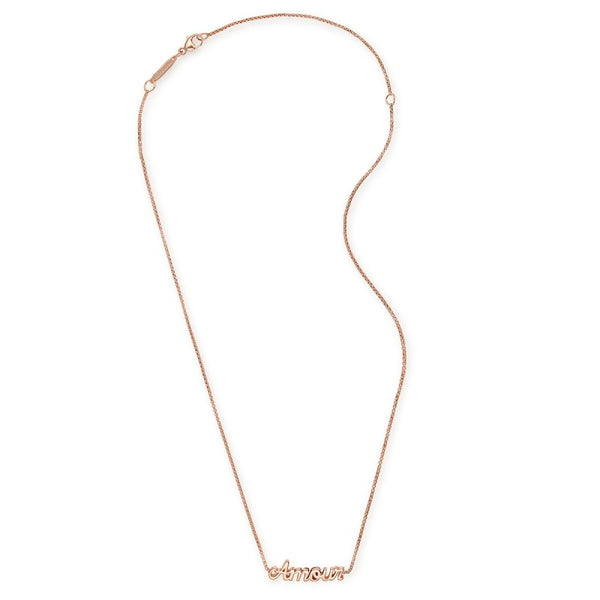 AMOUR ADJUSTABLE NECKLACE ROSE GOLD