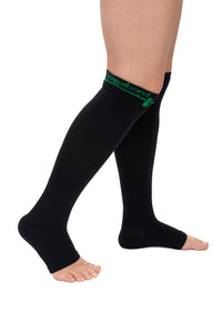 Vagabond 2XL and 3XL Wide Calf Graduated Compression SOCKS WITHOUT TOE in Black or White (3XL only)