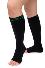 Load image into Gallery viewer, Vagabond 2XL and 3XL Wide Calf Graduated Compression SOCKS WITHOUT TOE in Black or White (3XL only)