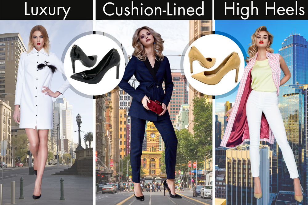 HEZZALUX high heels. Luxury cushion-lined stilettos that are extremely comfortable.