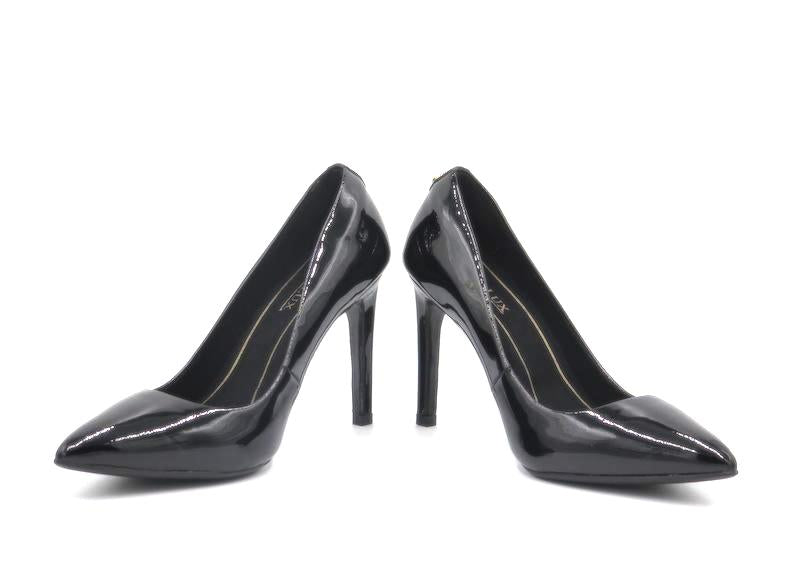 Heidi Pointed Toe Pump - Black Patent Leather
