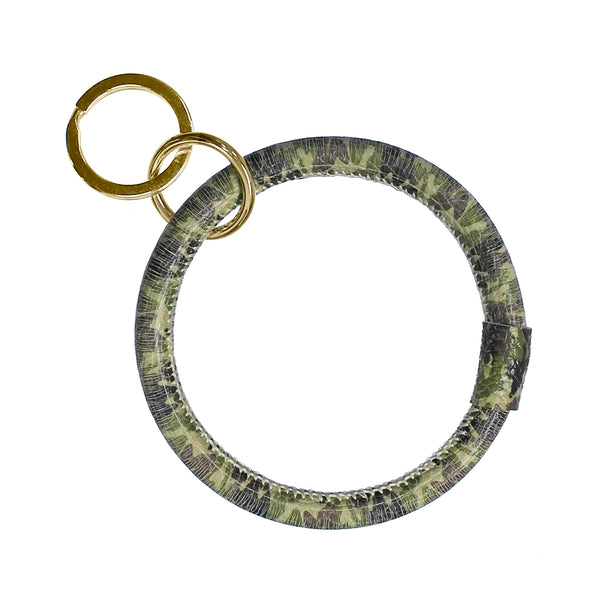 CAMO BANGLE LEATHER KEYCHAIN