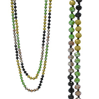 Camo Crystal 60 inch Bead Necklace