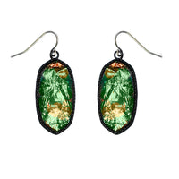 OVAL GLASS EARRING