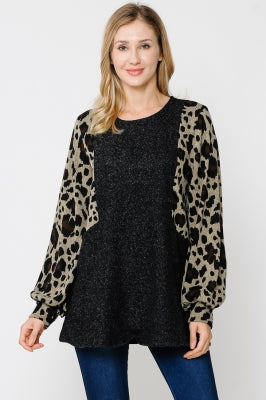 LEOPARDS AND BUBBLES TOP