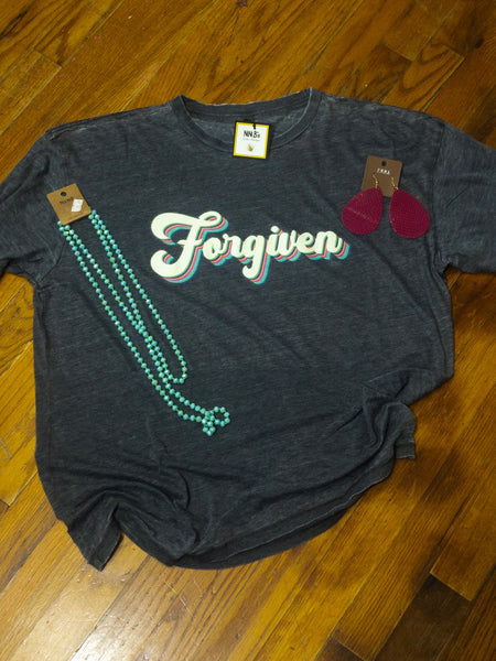 DISRESSED FORGIVEN T SHIRT