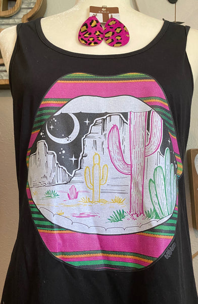 SERAPE LIPS DESERT TANK TOP