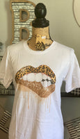 LEOPARD AND GLITTER SUB T SHIRT