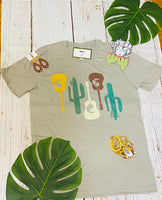 GUITAR AND CACTUS BELLA TEE