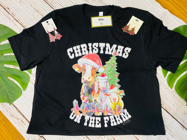 CHRISTMAS ON THE FARM T SHIRT