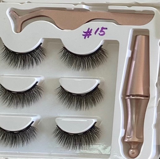 3 PIECE SET MAGNETIC LASHES SET 15
