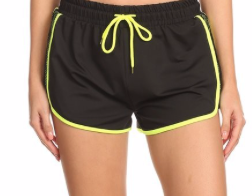 LET'S GO FOR A JOG NEON SHORTS