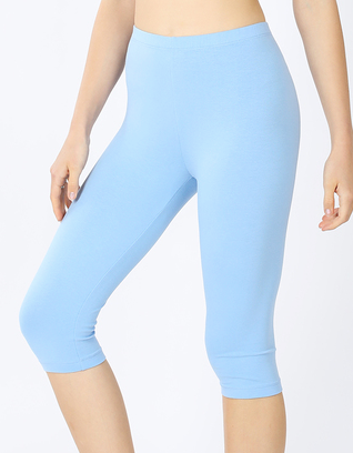 PREMIUM COTTON CAPRI LEGGINGS SPRING BLUE
